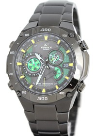 image for Casio EQWM1100DC-1A2 Mens Edifice Black Label Solar Multi-Band Atomic Alarm Chronograph Link Bracelet