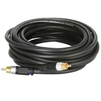 image for Mediabridge ULTRA Series Subwoofer Cable (15 Feet) - Dual Shielded with Gold Plated RCA to RCA Connectors - Black