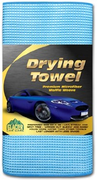 image for Drying Towel - Best Waffle Weave Microfiber Towels - Super Absorbent, Premium Cleaning Cloths - 24 X 36