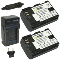 image for Wasabi Power Battery (2-Pack) and Charger for Canon LP-E6, LP-E6N and Canon EOS 5D Mark II, EOS 5D Mark III, EOS 6D, EOS 7D, EOS 7D Mark II, EOS 60D, EOS 60Da, EOS 70D
