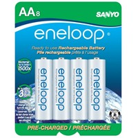 image for eneloop 2000 mAh typical, 1900 mAh minimum, 1500 cycle, 8 pack AA, Ni-MH Pre-Charged Rechargeable Batteries