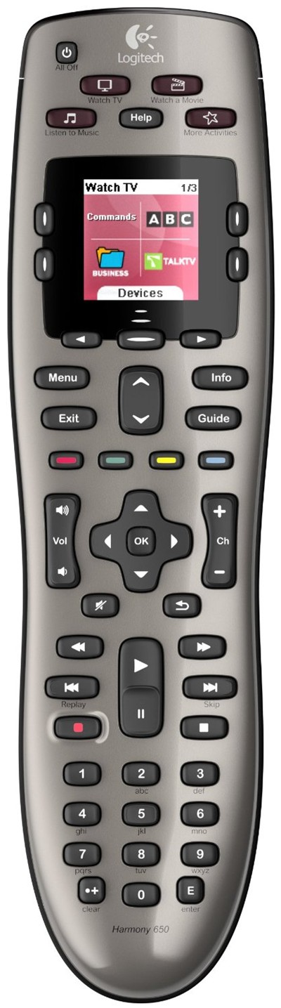 image for Logitech Harmony 650 Remote Control (Silver)