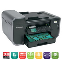 image for Lexmark Prevail Pro705 Small Office Wireless 4-in-1 Inkjet Color Printer - 90T7005