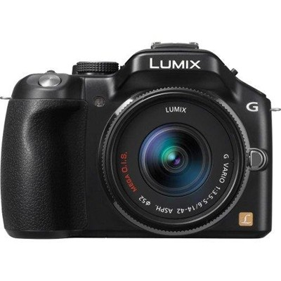 image for Panasonic DMC-G5KK 16 MP Compact System Camera with 14-42mm Zoom Lens and 3-Inch LCD (Black)