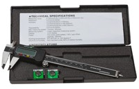 image for 6 Inch LCD Digital Caliper with Extra Battery and Case