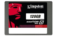 image for Kingston Digital 120GB SSDNow V300 SATA 3 2.5 (7mm height) with Adapter Solid State Drive 2.5-Inch SV300S37A/120G