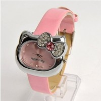 image for U-beauty Hello Kitty Girls Wristwatch Wrist Watch Pink