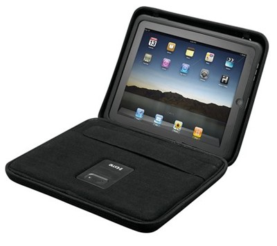 image for iHome iDM69B iPad Case with Built-In Rechargeable Stereo Speakers (Black)