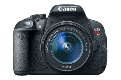 image for Canon EOS Rebel T5i 18.0 MP CMOS Digital SLR with 18-55mm EF-S IS STM Lens + Canon EF-S 55-250mm + Amazon Camera Bag