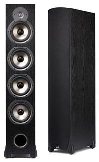 image for Polk Audio Monitor 75T Four-Way Ported Floorstanding Speaker (Single, Black)