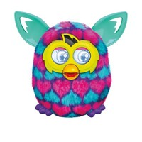 image for Furby Pink and Blue Hearts Boom Plush Toy