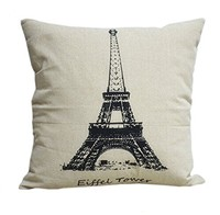 image for Simple Fashion Square Linen Throw Pillow Cases