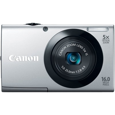 image for Canon PowerShot A3400 IS 16MP Silver Digital Camera 5x Optical Zoom 3 inch Touch Panel