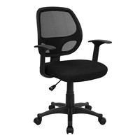 image for Flash Furniture Mid-Back Black Mesh Computer Chair