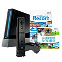 image for Nintendo Wii System (Black) with Wii Sports, Wii Sports Resort, and MotionPlus