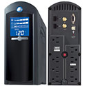 image for CyberPower Intelligent LCD Series UPS CP1350AVRLCD 1350 VA 810 Watts AVR 8-Outlet - Power Panel Software