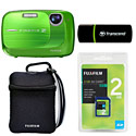 image for FujiFilm FinePix Z37 10 Megapixel Digital Camera, Green with 2GB FujiFilm SD Card, Transcend SD Card Reader and Camera Case - 600008205