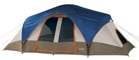 image for Wenzel Great Basin 18 X 10-Feet Nine-Person Two-Room Family Dome Tent (Light Grey/Blue/Taupe)