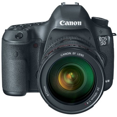 image for Canon EOS 5D Mark III 22.3 MP Full Frame CMOS Digital SLR Camera with EF 24-105mm f/4 L IS USM Lens