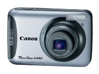 "image for Canon PowerShot A490 Silver 10.0 MP 2.5"" 115K LCD 3.3X Optical Zoom Digital Camera"