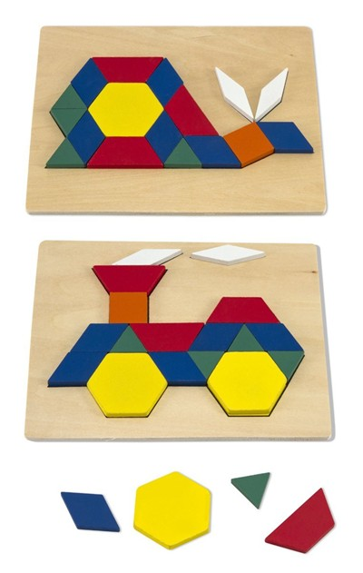 image for Melissa & Doug Pattern Blocks and Boards