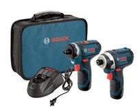image for Bosch CLPK27-120 12-Volt Max Lithium-Ion 2-Tool Combo Kit (Drill/Driver and Impact Driver) with 2 Batteries, Charger and Case