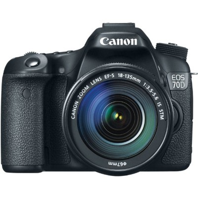 image for Canon EOS 70D 20.2 MP Digital SLR Camera with Dual Pixel CMOS AF and EF-S 18-135mm F3.5-5.6 IS STM Kit
