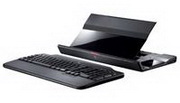 image for Logitech Alto Cordless Notebook Stand with wireless keyboard. The stand holds notebooks up to 15.4""