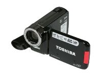 "image for TOSHIBA Camileo H30 Black CMOS 3.0"" touch LCD 5X Optical Zoom Full HD HDD/Flash Memory Camcorder + FREE DOLICA 4GBWB3591D 2X SD4/4GB = 8GB & Medium Case Bundle"
