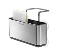 image for simplehuman Slim Sink Caddy, Stainless Steel