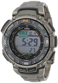 "image for Casio Men's PAG240T-7CR ""Pathfinder"" Triple-Sensor Multi-Function Titanium Watch"