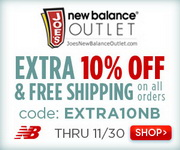image for Joe's New Balance outlet: Get extra 10% off on any order with free Shipping