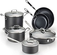 image for Emeril by All-Clad E838SA Hard Anodized Cookware Set, 10-Piece, Black
