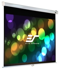 "image for Elite Screens 100 Inch 16:9 Manual Pro Slow Retract Projector Screen (49""Hx87""W)"