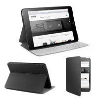image for [Textured leather & Ultra Slim] Anker® iPad Mini Case Multi Angle Stand - Synthetic leather with smart cover - Automatic Sleep / Wake function - Black