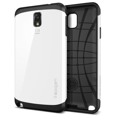 image for SPIGEN Samsung Galaxy Note 3 Case Protective [Slim Armor] [Infinity White] Dual Layer Protective Case for Galaxy Note III - Infinity White (SGP10459)