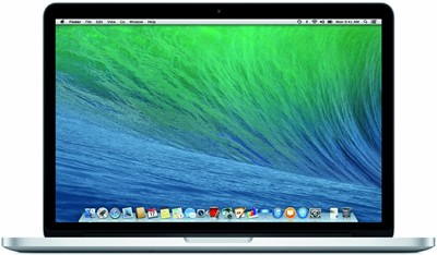 "image for Apple 13.3"" MacBook Pro with Retina display, Dual-core Intel Core i5 2.4GHz (4th generation Haswell processor), 8GB RAM, 256GB PCIe-based flash storage, Intel Iris Graphics, Two Thunderbolt 2 ports, 802.11ac Wi-Fi, 9 hours of battery life, OS X Mavericks (ME865LL/A)"