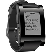 image for Pebble Smartwatch for iPhone and Android (Black) + $20 Amazon.com Gift Card