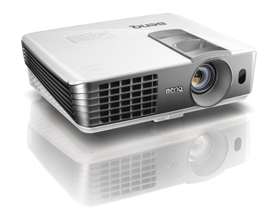 image for BenQ W1070 1080P 3D Home Theater Projector (White)