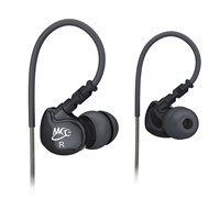 image for MEElectronics Sport-Fi M6 Noise-Isolating In-Ear Headphones with Memory Wire (Black)