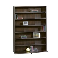 image for Sauder Multimedia Storage Tower, Cinnamon Cherry