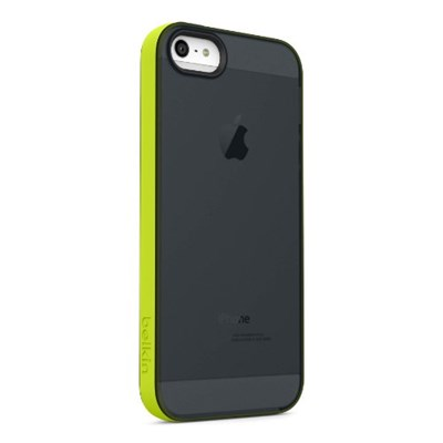 image for Belkin Grip Candy Sheer Case / Cover for iPhone 5 and 5S (Black / Green)