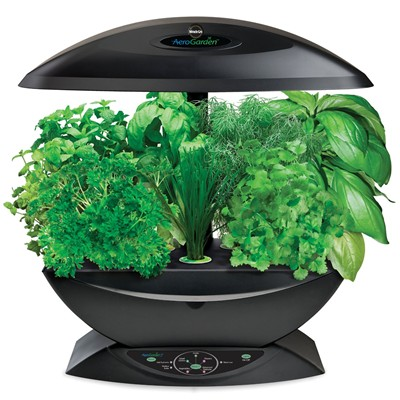 image for Miracle-Gro AeroGarden 7-Pod Indoor Garden with Gourmet Herb Seed Kit, Black