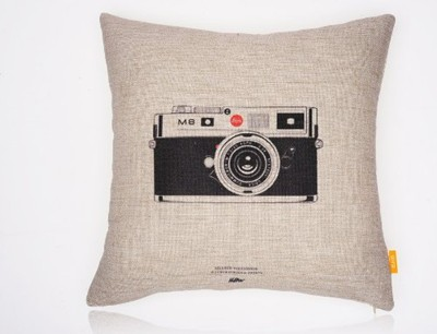 image for OJIA Decorative 18 x 18 Inch Cotton Blend Linen Throw Pillow Cover Cushion Case , Vintage cameras