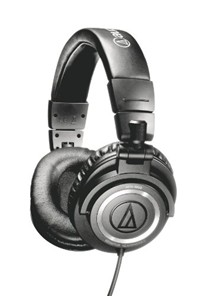 image for Audio-Technica ATH-M50 Professional Studio Monitor Headphones with Coiled Cable
