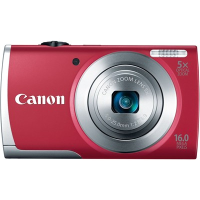 image for Canon PowerShot A2500 16MP Digital Camera with 2.7-Inch LCD (Red)