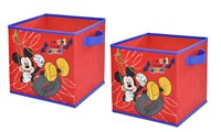 "image for Disney 10"" Mickey Mouse 2 PC Collapsible Storage Cubes"