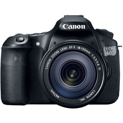 image for Canon EOS 60D 18 MP CMOS Digital SLR Camera with 3.0-Inch LCD and 18-135mm f/3.5-5.6 IS UD Standard Zoom Lens