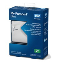 image for WD My Passport Slim 2TB Portable Metal External Hard Drive USB 3.0 with Auto and Cloud Backup (WDBPDZ0020BAL-NESN)